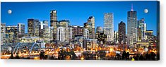 Denver Twilight Acrylic Print by Kevin Munro