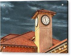 Depot Time Acrylic Print by Brenda Bryant