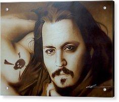 Johnny Depp - ' Depp II ' Acrylic Print by Christian Chapman Art