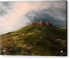 Deralict Chartley Castle Staffordshire Acrylic Print by Jean Walker