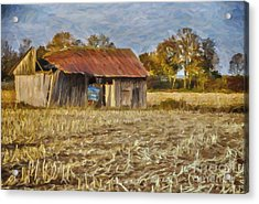 Derelict Barn Acrylic Print by Jutta Maria Pusl