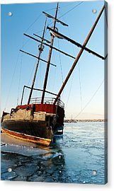 Derelict Faux Tall Ship Acrylic Print by Trever Miller