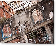 Derelict Wall Of Lost Limbs 01 Acrylic Print by Rick Piper Photography
