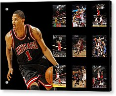 Derrick Rose Acrylic Print by Joe Hamilton