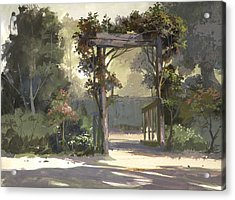Descanso Gardens Acrylic Print by Michael Humphries