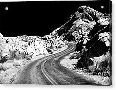 Desert Curves Acrylic Print by John Rizzuto