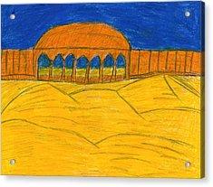 Desert Temple Acrylic Print by Frances Garry