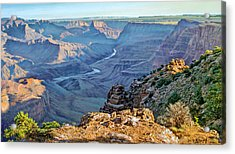 Desert View-morning Acrylic Print by Paul Krapf