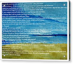 Desiderata Acrylic Print by Conor Murphy