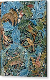 Design For Tapestry Acrylic Print by William Morris