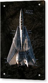 Detail And Scale F-14 Tomcat Acrylic Print by Peter Chilelli