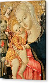 Detail Of Madonna And Child With Angels Acrylic Print by Matteo di Giovanni di Bartolo