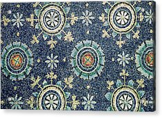 Detail Of The Floral Decoration From The Vault Mosaic Acrylic Print by Byzantine