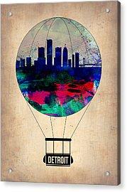 Detroit Air Balloon Acrylic Print by Naxart Studio