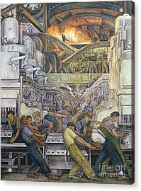 Detroit Industry  North Wall Acrylic Print by Diego Rivera