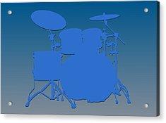 Detroit Lions Drum Set Acrylic Print by Joe Hamilton
