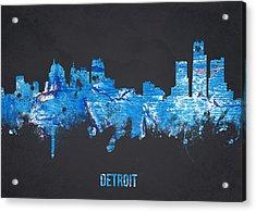 Detroit Michigan Usa Acrylic Print by Aged Pixel
