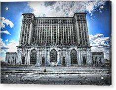 Detroit's Abandoned Michigan Central Train Station Depot Acrylic Print by Gordon Dean II