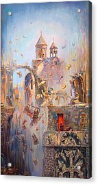 Devoted To The Saint Memory Of The Victims Of Armenian Genocide Acrylic Print by Meruzhan Khachatryan