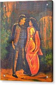 Dhak Dhak Acrylic Print by Usha Shantharam