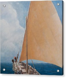 Dhow Kilifi Acrylic Print by Lincoln Seligman
