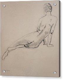 Diagonal Form Acrylic Print by Sarah Parks