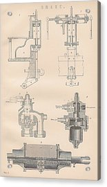Diagram Of A Brake Acrylic Print by Anon