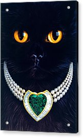 Diamonds Are A Cats Best Friend Acrylic Print by Andrew Farley