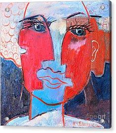 Dichotomous Being  Acrylic Print by Ana Maria Edulescu