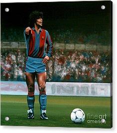 Diego Maradona Acrylic Print by Paul Meijering