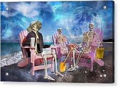 Diehard Beach Bums Acrylic Print by Betsy C Knapp