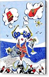 Dieta - Vacaciones Humor Y Ocio Acrylic Print by Arte Venezia