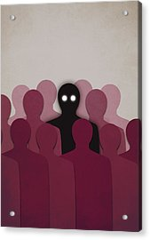 Different And Alone In Crowd Acrylic Print by Boriana Giormova