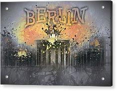 Digital-art Brandenburg Gate I Acrylic Print by Melanie Viola