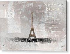 Digital-art Eiffel Tower II Acrylic Print by Melanie Viola