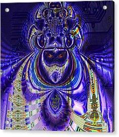 Digital Loop Entity Acrylic Print by Jason Saunders
