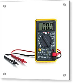 Digital Multimeter Acrylic Print by Science Photo Library