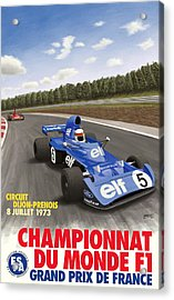 Dijon Prenois French Grand Prix 1973 Acrylic Print by Georgia Fowler