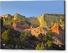 Dine' Tah ' Among The People ' Scenic Road Acrylic Print by Christine Till