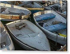 Dinghies Acrylic Print by Peter Tellone