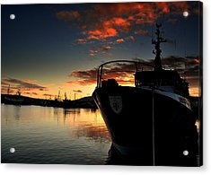 Dingle Harbour Sunset Acrylic Print by Florian Walsh