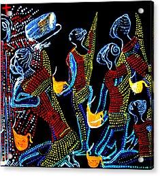 Dinka Wise Virgins Acrylic Print by Gloria Ssali