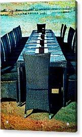 Dinner By The Sea Acrylic Print by Georgia Fowler