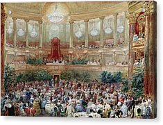 Dinner In The Salle Des Spectacles At Versailles Acrylic Print by Eugene-Louis Lami