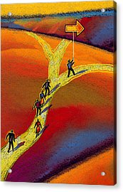 Direction Acrylic Print by Leon Zernitsky