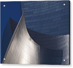 Disney Hall Abstract Acrylic Print by Rona Black