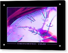 Distorted Time Acrylic Print by Mike McGlothlen