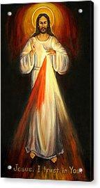Divine Mercy Acrylic Print by Sheila Diemert