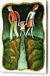 Divorce Acrylic Print by Leon Zernitsky