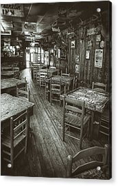 Dixie Chicken Interior Acrylic Print by Scott Norris